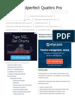 Sorting Data _ Wordperfect Quattro Pro