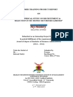Recruitment & Selection in My Money Securities Limited