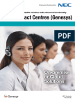 NEC Genesys Contact Centre Brochure