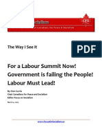 For a Labour Summit Now!