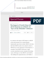"""The Impact of South China Sea (SCS) Tensions on ASEAN_ an """"Eye-Of-The-Beholder"""""""
