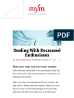 Dealing With Decreased Enthusiasm
