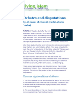 Debates and Disputations, By Al-Imam Al-Ghazali