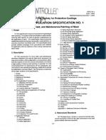 Paint Application SSPC PA 1