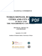 Turko Mongol Rulers Cities Program Abstracts Profiles