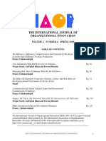 International Journal of Organizational InnovationFinal Issue Spring 2009