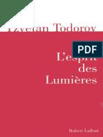 Tzvetan Todorov-L 39 Esprit Des Lumi Res-Robert La