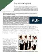 Entender el papel de los servicios de seguridad