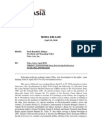 MR2 - PESAPR2010- MR on Senatorial and PLG Preferences (FINAL)