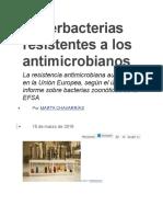 Superbacterias Resistentes a Los Antimicrobianos