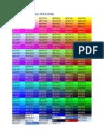 Daftar Kode Warna Untuk HTML