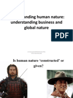 Understanding Human Nature Understanding Business and Global Nature