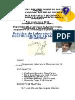 Informe 3 Destruccion de La Materia Org.