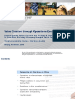 Value Creation through Operations Excellence