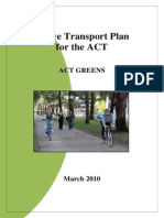 ACT Greens' Active Transport Plan