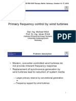 Wind Turbine Frequency Control