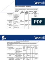 Sports Development Plan EXAMPLE TEMPLATE
