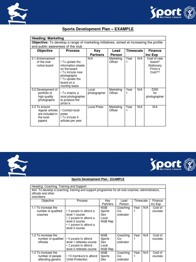 sports development plan