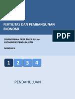 Week 4 - Fertilitas Dan Pembangunan Ekonomi
