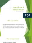 agriculture   transportation