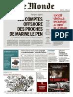 Le Monde  6 Avril 2016