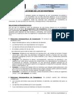 Ficha de Relaciones en Los Ecosistemas