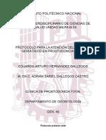Protocolo para prostodoncia total