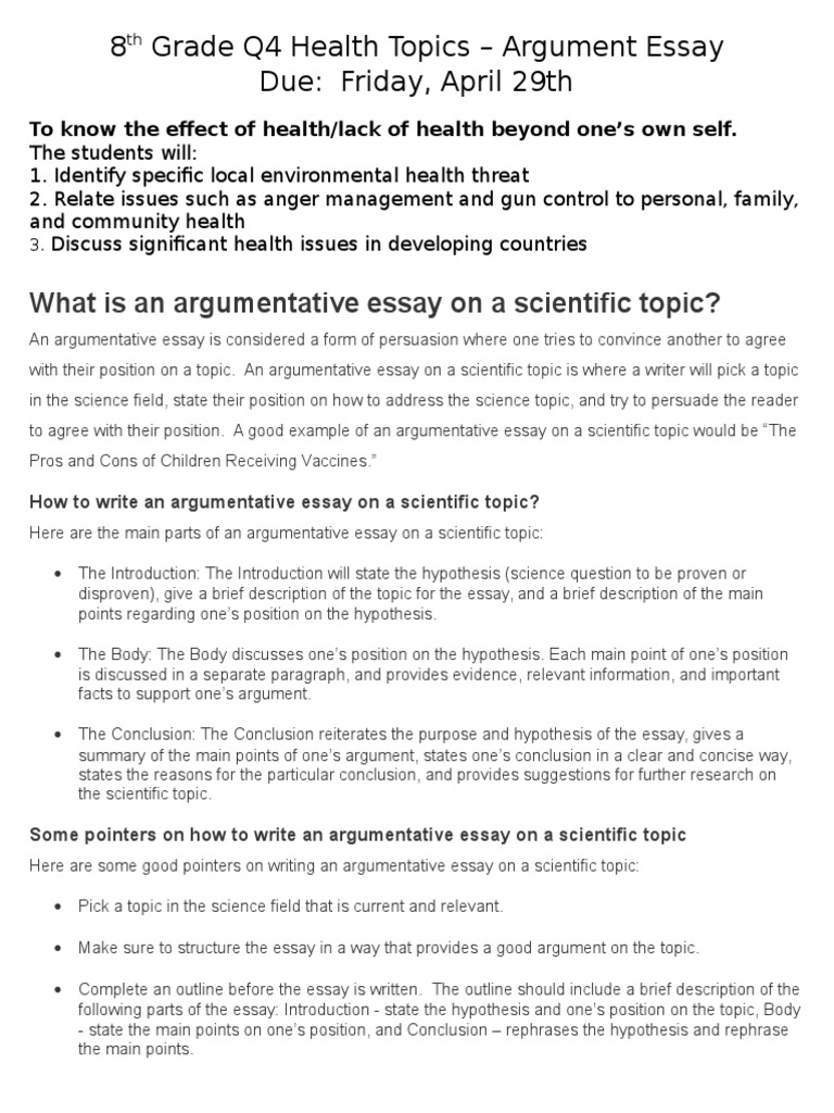 good topics for argument essays These examples of argumentative essays are to help you understanding how to write this type of essays the leading tone in an argumentative essay is the position of proving that the presented point of view is the correct one and possesses more truthful arguments than any other opinions.
