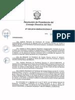 Resolución N°030-2016-SINEACE-CDAH-P