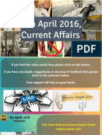 6 April 2016 Current Affairs for Competition Exams