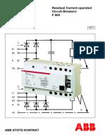 ABB Interruptor Diferencial F804