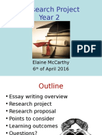 2nd Years Research Project - April 2016