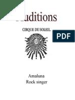 Amaluna Rock Singer