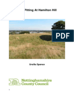 Test Pitting on Hamilton Hill, Nottinghamshire