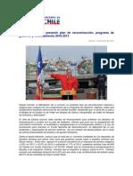 Plan de reconstrucción, Programa de Gobierno y Financiamiento 2010-2013