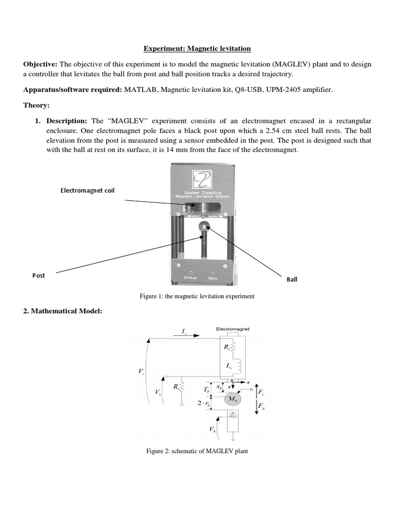 Magnetic_Levitation pdf | Inductor | Control Theory