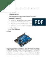 Diseño y Elaboración de Un Automóvil Controlado Por Bluetooth Mediante Arduino.