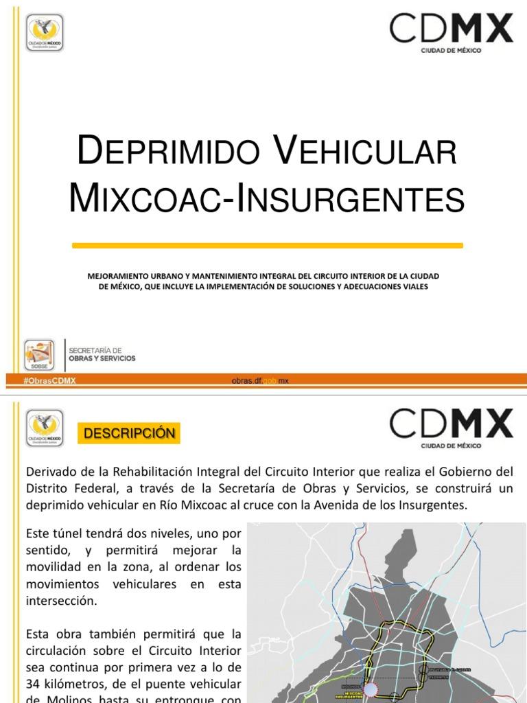 Deprimido Vehicular Mixcoac Insurgentes1 Transporte Por