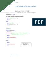 Manejo de Sentencia SQL Server 2005x