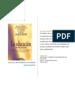 Resumen de La Educacion Encierra Un Tesoro