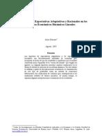 Hipotesis de Expectativas Adaptativas y Racionales de Alejo Macaya