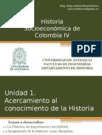 Cronograma de sesiones y exposiciones Historia Socioeconómica de Colombia IV