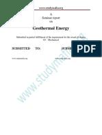Report Geothermal