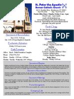 St. Peter the Apostle Bulletin 4-10-16