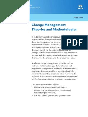 Change Management Theories Methodologies | Change Management