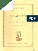 Mauro Giuliani - Sei Ariette