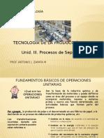 Und. III. Tecnologia de La Produccion
