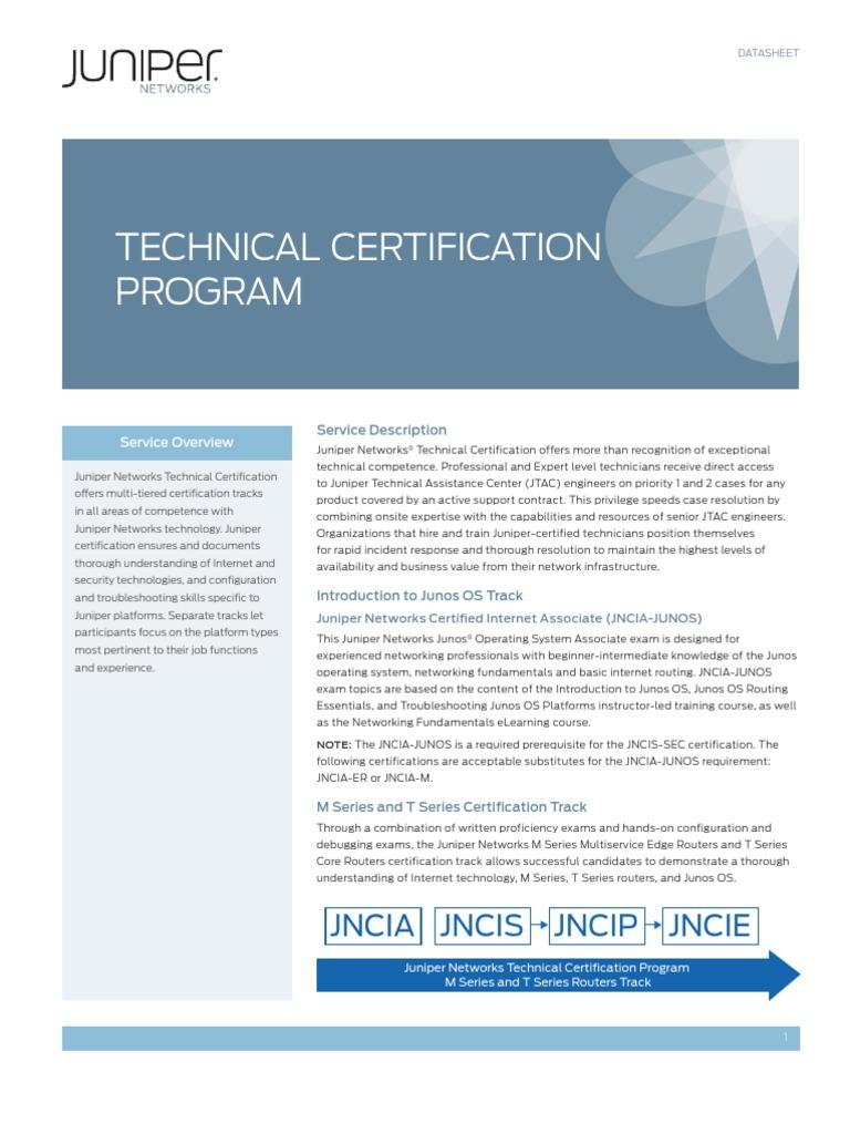 Juniper Certification Professional Certification Juniper Networks