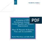 Evaluation on DFID Development Assistance