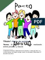 Pacto de Amistad (Jonatán y David)